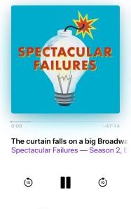 A screenshot of the spectacular failures podcast art