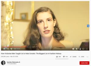 A screenshot of Karolina Zebrowska's video.